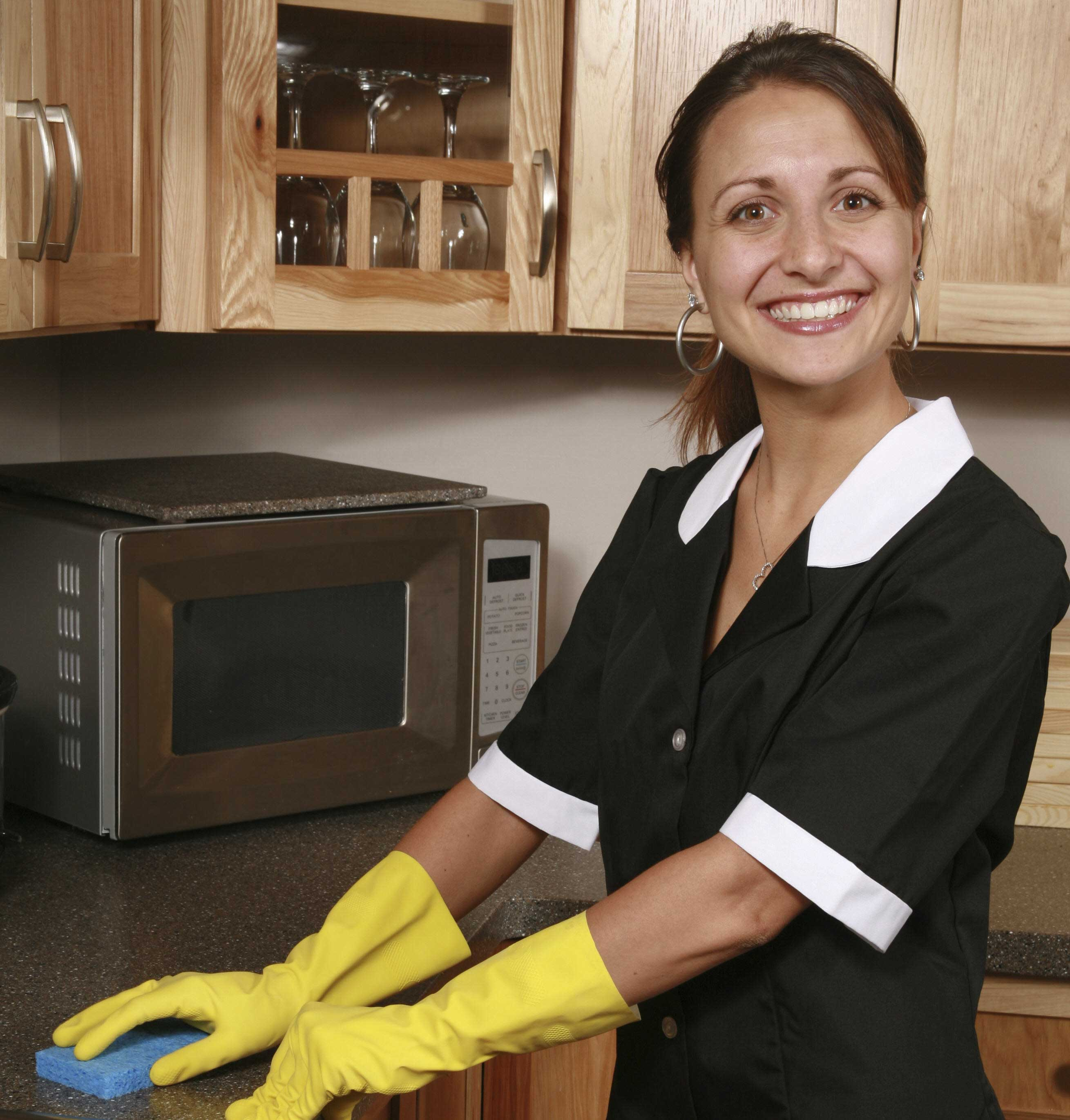 home maid Once the floors in your home are vacuumed there are professional house cleaning and maid services near you that use green cleaning products.