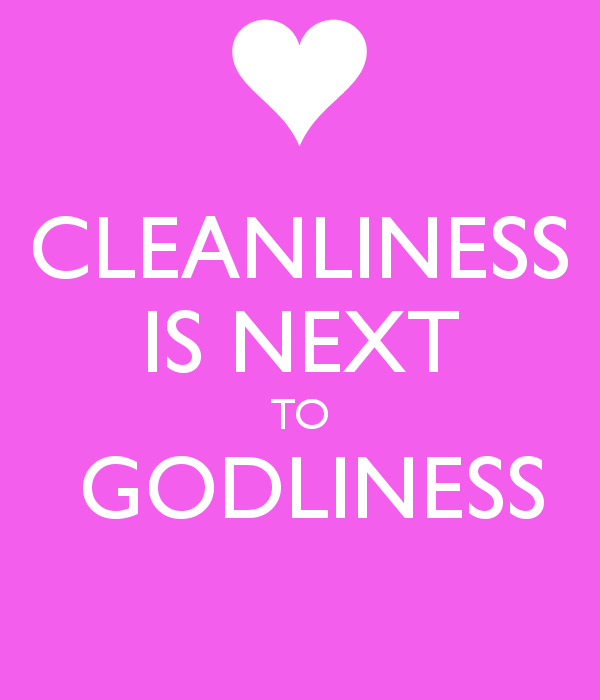 Cleanliness is next to godliness 4