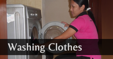 Maid cleaning service Agency company Washing Clothes